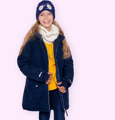 Endo - Długa kurtka zimowa z kapturem, granatowa, 9-13 lat D04A008_1 1