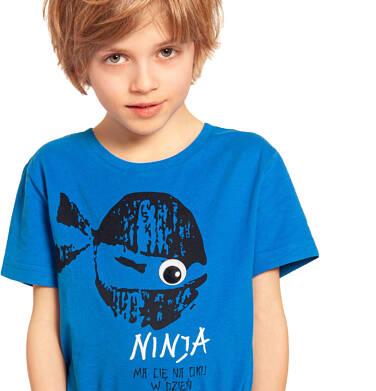 Endo - T-shirt z krótkim rękawem dla chłopca, ninja ma Cię na oku, niebieski, 2-8 lat C03G034_2 280