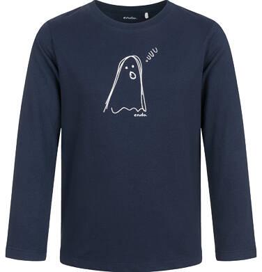 Endo - T-shirt z długim rękawem dla chłopca, z duchem, granatowy, 9-13 lat C03G713_1 17