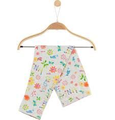 Legginsy w kolorowy deseń dla niemowlaka N61K043_1