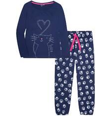 Endo - Piżama z długimi spodniami damska Y72V008_1