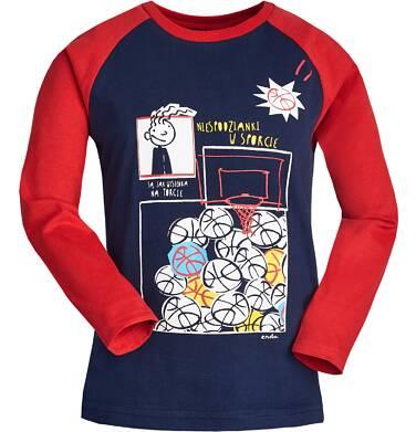 """Endo - """"Niespodzianki w sporcie są jak wisienka na torcie"""" T-shirt z długim rękawem dla chłopca 3-8 lat C82G082_1"""