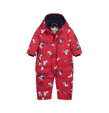 Endo - Kombinezon zimowy dla małego dziecka, w zwierzątka, czerwony N04A004_1 4