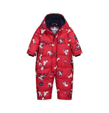Endo - Kombinezon zimowy dla małego dziecka, w zwierzątka, czerwony N04A004_1 7