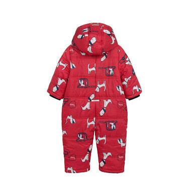 Endo - Kombinezon zimowy dla małego dziecka, w zwierzątka, czerwony N04A004_1 8