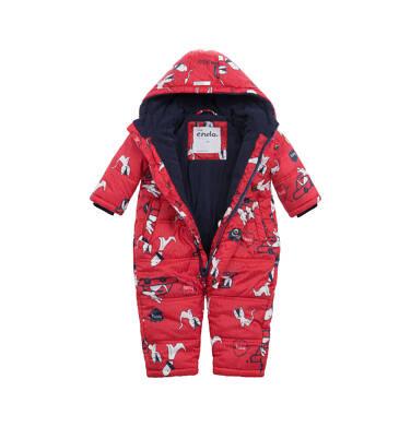 Endo - Kombinezon zimowy dla małego dziecka, w zwierzątka, czerwony N04A004_1,4