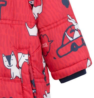 Endo - Kombinezon zimowy dla małego dziecka, w zwierzątka, czerwony N04A004_1,7