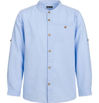 Endo - Koszula z długim rękawem dla chłopca, ze stójką, niebieska, 2-8 lat C03F008_1 1