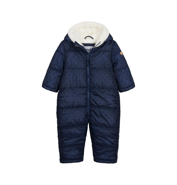 Endo - Kombinezon zimowy dla małego dziecka, z uszkami, granatowy N04A008_1
