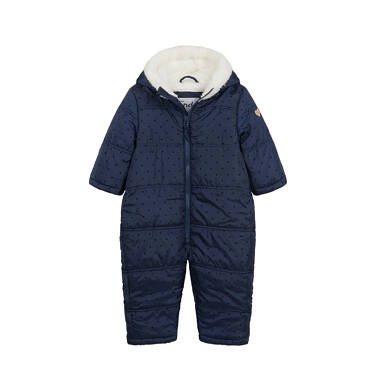 Kombinezon zimowy dla małego dziecka, z uszkami, granatowy N04A008_1