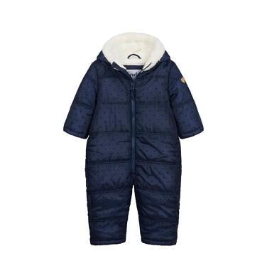 Endo - Kombinezon zimowy dla małego dziecka, z uszkami, granatowy N04A008_1,1