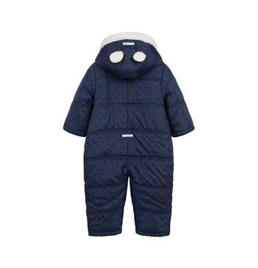 Endo - Kombinezon zimowy dla małego dziecka, z uszkami, granatowy N04A008_1,3