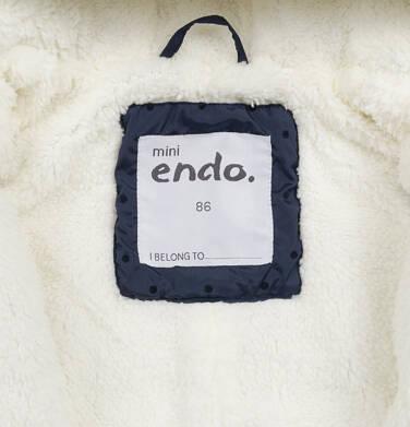 Endo - Kombinezon zimowy dla małego dziecka, z uszkami, granatowy N04A008_1,6