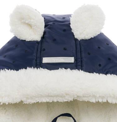 Endo - Kombinezon zimowy dla małego dziecka, z uszkami, granatowy N04A008_1,4