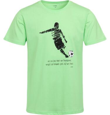 Endo - Piżama męska z krótkim rękawem, z piłkarzem, nie ma złej pory na trenowanie, zielona Q05V003_1 1