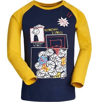 """Endo - """"Niespodzianki w sporcie są jak wisienka na torcie"""" T-shirt z długim rękawem dla chłopca 3-8 lat C82G082_2"""