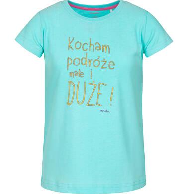 T-shirt z krótkim rękawem dla dziewczynki 3-8 lat D91G165_1