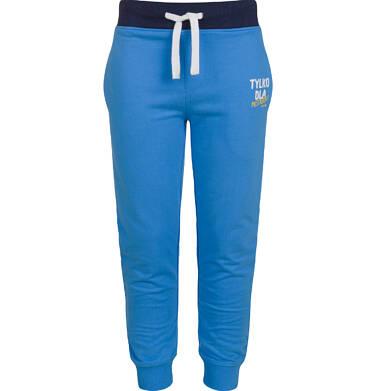 Spodnie dresowe dla chłopca, niebieskie, 2-8 lat C03K045_1
