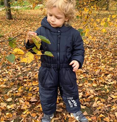 Endo - Kombinezon zimowy dla małego dziecka, granatowy N04A009_1 4