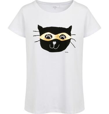 Endo - Piżama damska z krótkim rękawem, z kotem, biała Y05V001_1 4