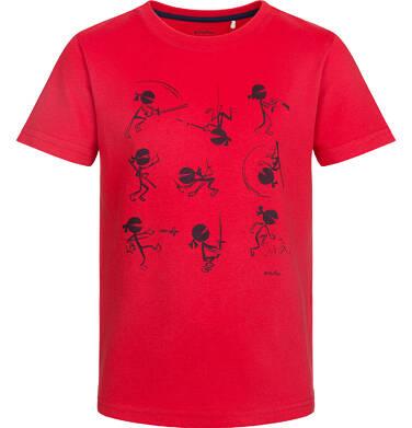 Endo - T-shirt z krótkim rękawem dla chłopca, ninja, czerwony, 2-8 lat C03G036_1