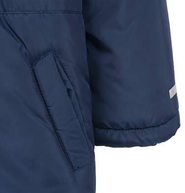 Endo - Długa kurtka parka zimowa dla małego dziecka, granatowa N04A022_1,5