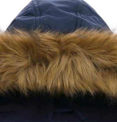 Endo - Długa kurtka parka zimowa dla małego dziecka, granatowa N04A022_1,4