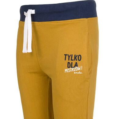 Endo - Spodnie dresowe dla chłopca, brązowe, 2-8 lat C03K045_3 9