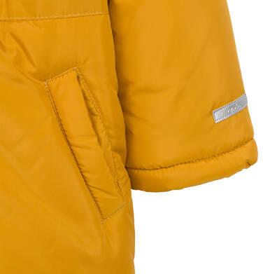 Endo - Długa kurtka parka zimowa dla małego dziecka, musztardowa N04A022_2,7