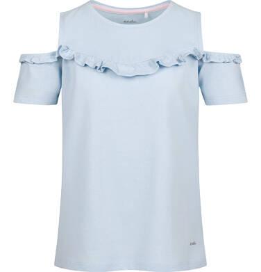 Endo - Bluzka z krótkim rękawem dla dziewczynki, z odsłoniętymi ramiona, niebieska, 2-8 lat D03G157_1 10