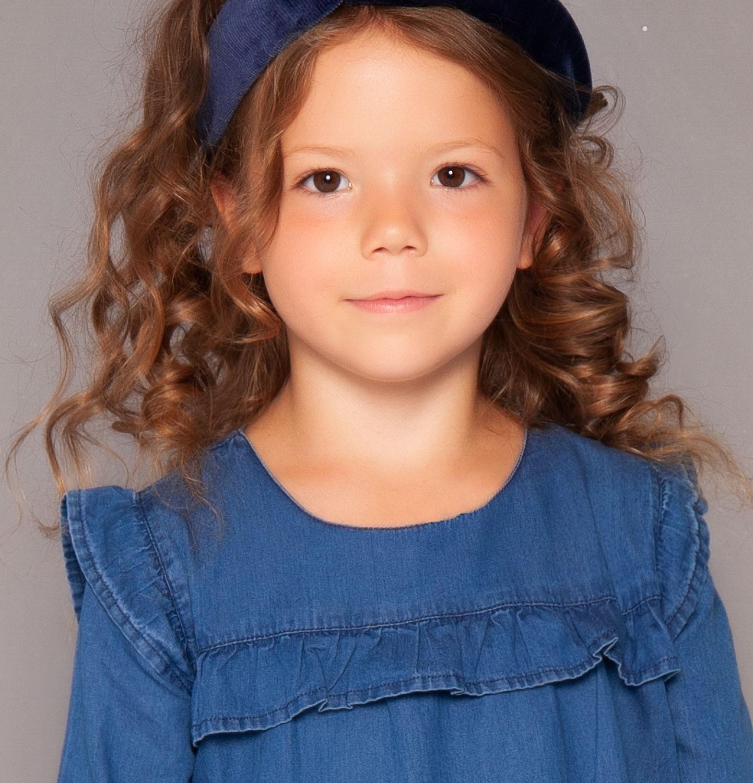 Endo - Sukienka z długim rękawem dla dziewczynki 3-8 lat D82H010_1