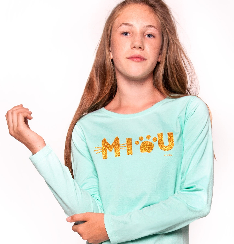 Endo - T-shirt z długim rękawem dla dziewczynki 9-13 lat D92G525_1