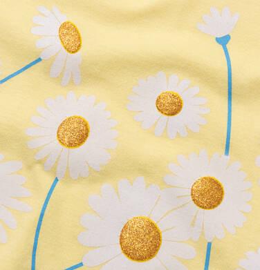 Endo - T-shirt damski w stokrotki, żółty Y05G002_2 6