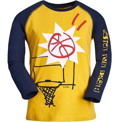 """Endo - """"Jestem twoim idolem :)"""" T-shirt z długim rękawem dla chłopca 9-13 lat C82G586_1"""