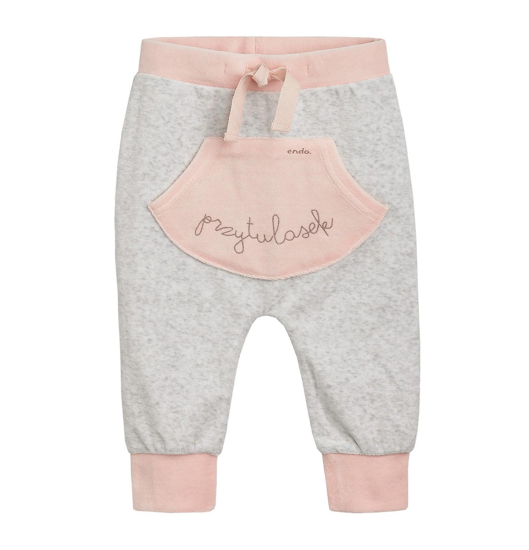 Endo - Spodnie welurowe dla niemowlaka N82K003_1