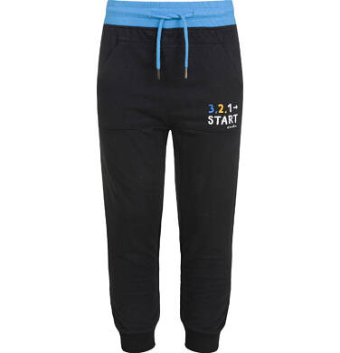 Endo - Spodnie z obniżonym krokiem dla chłopca, czarne, 5-8 lat C03K046_3 163