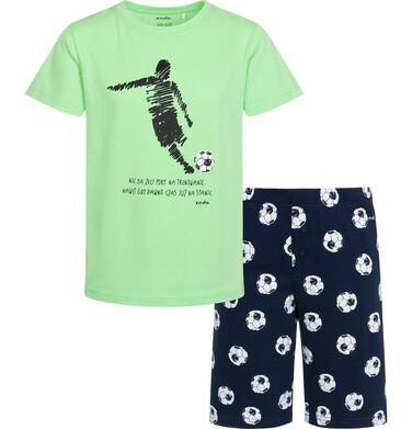 Endo - Piżama z krótkim rękawem dla chłopca, z piłkarzem, nie ma złej pory na trenowanie, zielona, 9-13 lat C05V005_1 84