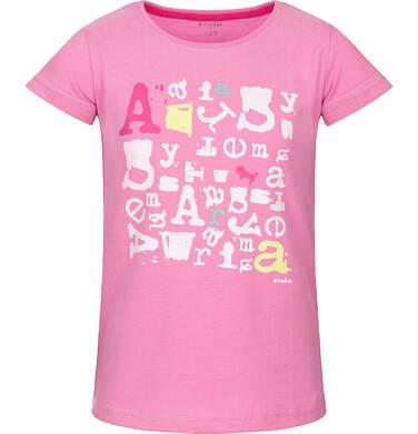 T-shirt z krótkim rękawem dla dziewczynki 3-8 lat D91G170_1