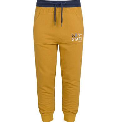 Endo - Spodnie z obniżonym krokiem dla chłopca, brązowe, 5-8 lat C03K046_4 9