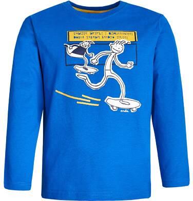"""Endo - """"Zawsze weseli i uśmiechnięci"""" T-shirt z długim rękawem dla chłopca 9-13 lat C82G591_1"""