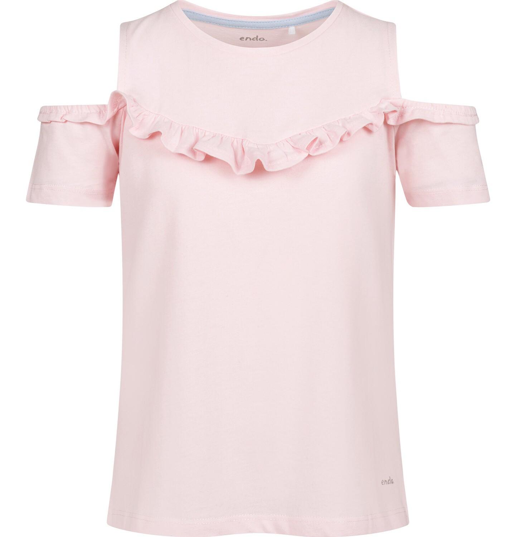 Endo - Bluzka z krótkim rękawem dla dziewczynki, z odsłoniętymi ramiona, różowa, 2-8 lat D03G157_3