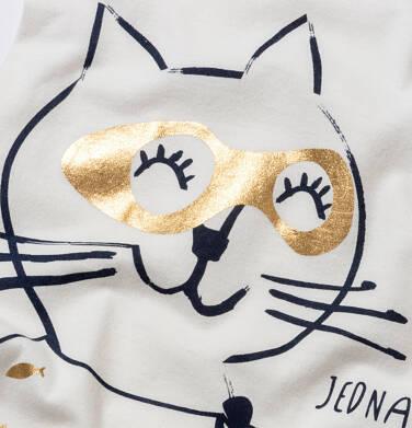 Endo - T-shirt damski z kotem bohaterem, kremowy Y05G004_2 17