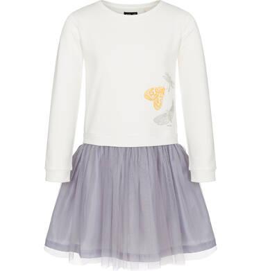 Endo - Sukienka z długim rękawem dla dziewczynki 9-13 lat D92H562_1