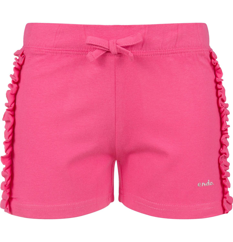 Endo - Krótkie spodenki dla dziewczynki, różowe, 2-8 lat D03K034_1