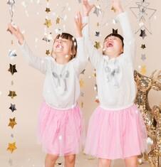Endo - Sukienka z tiulowym dołem i brokatem dla dziewczynki 3-8 lat D72H068_1