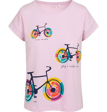 Endo - T-shirt damski w kolorowe rowery, różowy Y05G009_1 20
