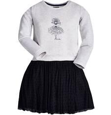 Endo - Sukienka z tiulowym dołem i brokatem dla dziewczynki 3-8 lat D72H069_1