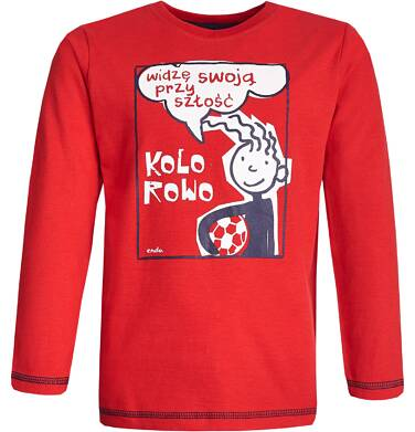 """Endo - """"Widzę swoją przyszłość kolorowo"""" T-shirt z długim rękawem dla chłopca 3-8 lat C82G078_1"""