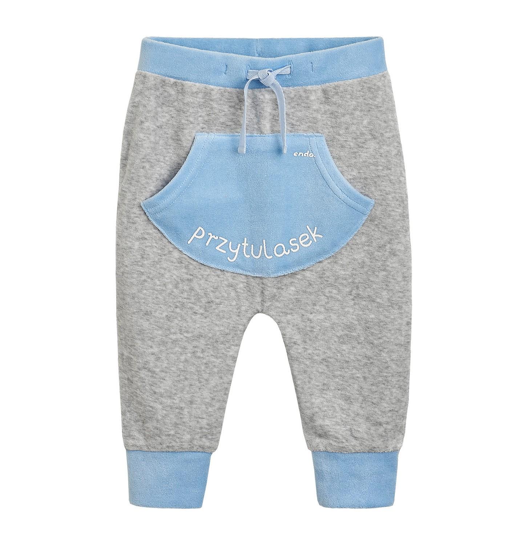 Endo - Spodnie welurowe dla niemowlaka N82K011_1