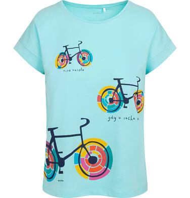 Endo - T-shirt damski w kolorowe rowery, niebieski Y05G009_3 19